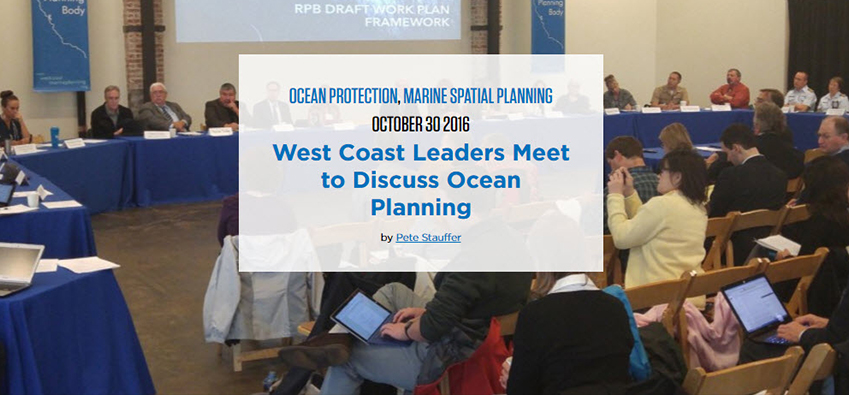 West Coast Gets Start on Ocean Planning
